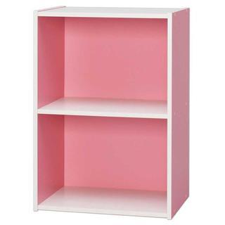 ☆カワイイ☆カラーボックス 2段 ピンク(本収納)