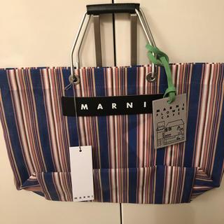 マルニ(Marni)の新品未使用 マルニ フラワーカフェ ストライプ バッグ(トートバッグ)