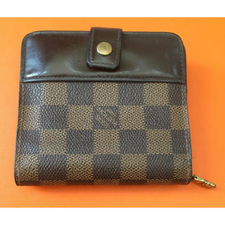 ルイヴィトン(LOUIS VUITTON)のヴィトン ダミエ コンパクト ジップ 財布 (折り財布)