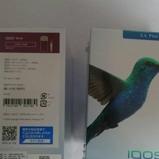 アイコス(IQOS)の@15500 新品未開封 iqos 2.4 plus ダークレッド 10台(タバコグッズ)