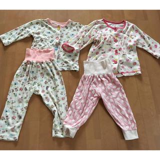 ニシマツヤ(西松屋)の女の子パジャマ 90 2組セット 腹巻付きパジャマ 腹巻パンツ(パジャマ)