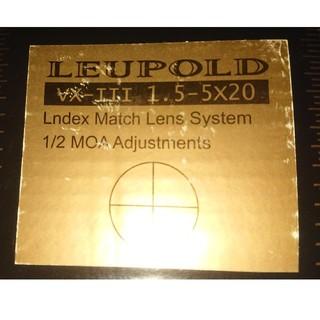 本物ライフルスコープ Leupold VX-lll 1.5-5X20(カスタムパーツ)