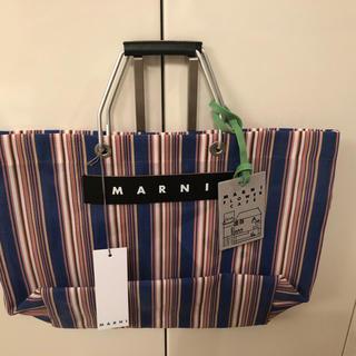 マルニ(Marni)の新品未使用 マルニ  フラワーカフェ   ストライプバッグ(トートバッグ)