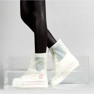 みーや様専用】Lサイズ(白)レインシューズカバー 2個(長靴/レインシューズ)