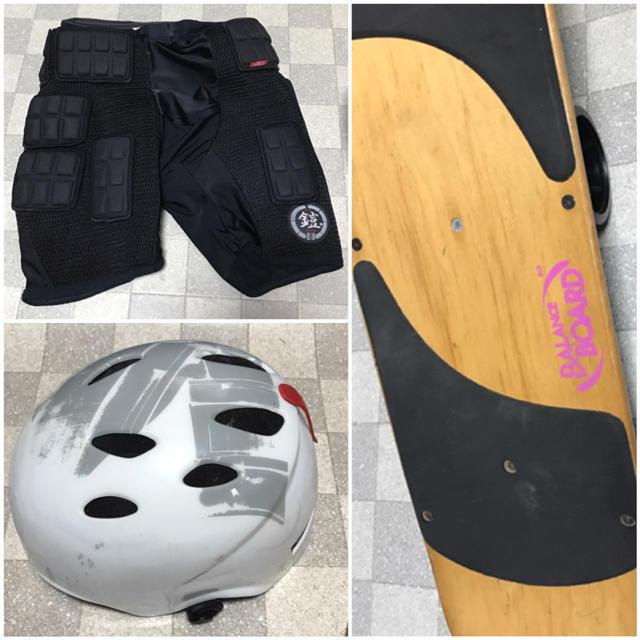 初日からジャンプ&回転も可能◆フルセット◆スノボのオフトレ◆ストリートボード スポーツ/アウトドアのスノーボード(ボード)の商品写真