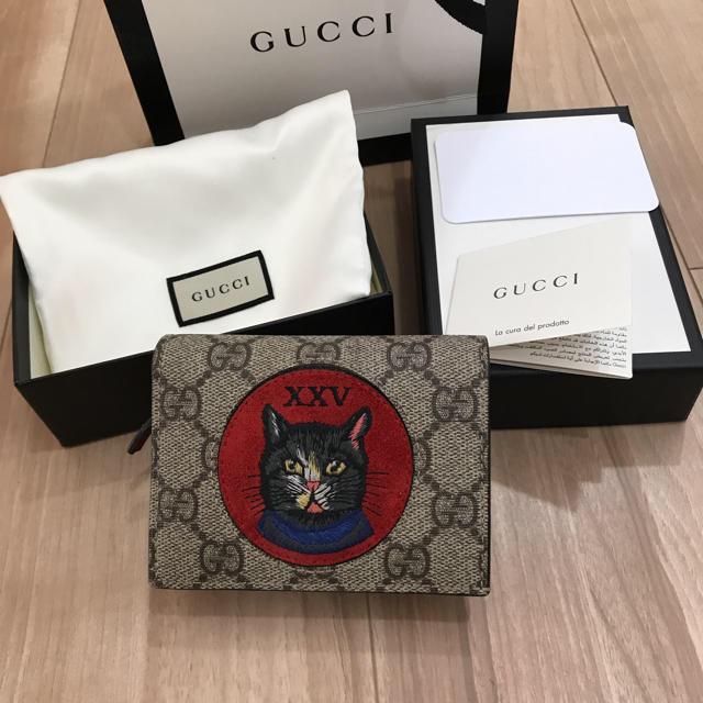 premium selection e6c80 3171a GUCCI グッチ キャット 二つ折り財布 ネコ | フリマアプリ ラクマ