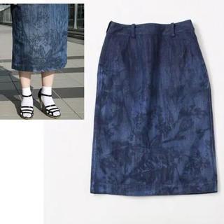 フォーティファイブアール(45R)の45r おぼろ月 デニムスカート(ひざ丈スカート)