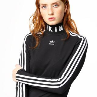 アディダス(adidas)の新品ADIDASORIGINALSSLIMLSDRESSハイネックジャージドレス(ミニワンピース)
