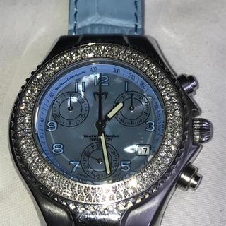 テクノマリーン(TechnoMarine)のテクノマリーン  ダイヤモンドベゼル MOP文字盤 20気圧防水(腕時計)