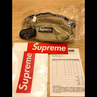 シュプリーム(Supreme)のSupreme 18SS Waist Bag ベージュ 新品未使用(ウエストポーチ)