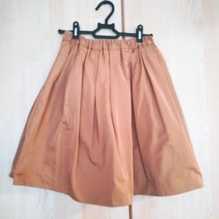 アクアガール(aquagirl)のリバーシブルベージュスカート(ひざ丈スカート)