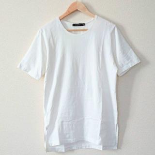 レイジブルー(RAGEBLUE)の【L】 RAGEBLUE ロングスリットカットソー ホワイト 白(Tシャツ/カットソー(半袖/袖なし))