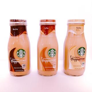 スターバックスコーヒー(Starbucks Coffee)の【日本未発売】スターバックス ガラス瓶 フラペチーノ 3種セット(コーヒー)