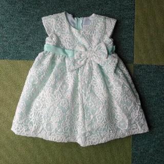 キャサリンコテージ(Catherine Cottage)のキャサリンコテージ花柄刺繍ドレス 80cmミント(セレモニードレス/スーツ)