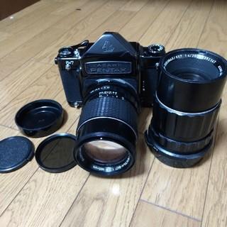 ペンタックス(PENTAX)のペンタックス pentax 6×7 フィルムカメラ 165 200mmレンズ付き(フィルムカメラ)
