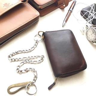 ホワイトハウスコックス(WHITEHOUSE COX)のWhitehouse cox 二つ折りジップ財布 【カスタマイズ済み】セトラー(折り財布)