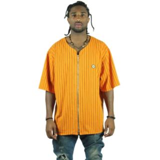 クロスカラーズ(CROSS COLOURS)のクロスカラーズ ZIP UP ベースボールシャツ【M】(Tシャツ/カットソー(半袖/袖なし))
