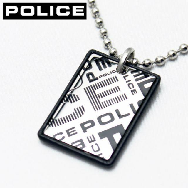 POLICE(ポリス)のポリス ネックレス ブラック POLICE STATIC 23880PSB01 メンズのアクセサリー(ネックレス)の商品写真