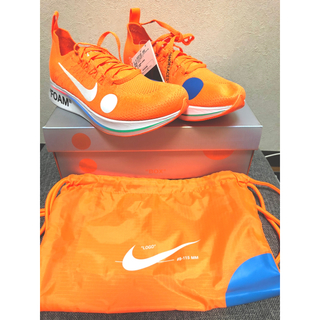 ナイキ(NIKE)のOff White x Nike Zoom flyknit 25センチ(スニーカー)