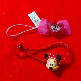 Disney - ミニーマウス*ランド購入ヘアゴム2点セット