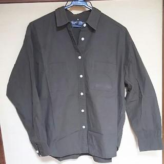 MUJI (無印良品) - 無印良品 コットン100% シャツ カーキMサイズ