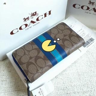 コーチ(COACH)のCOACH長財布 コーチ正規品 F56718 パックマン限定品メンズ用財布新品2(長財布)