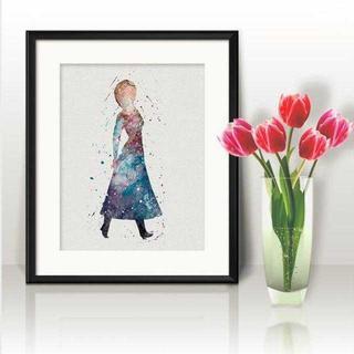 ディズニー(Disney)のアナ(アナ雪・アナと雪の女王)アートポスター【額縁つき・送料無料!】(ポスター)