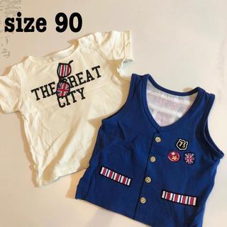 ベルメゾン(ベルメゾン)の555円均一セール Tシャツ&タンクトップセット 90サイズ(Tシャツ/カットソー)
