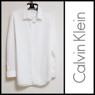 カルバンクライン(Calvin Klein)のCK*美品 ワイシャツ(白)(シャツ)
