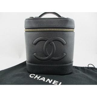シャネル(CHANEL)の◇美品 シャネル バニティ バッグ ブラック キャビアスキン 化粧ポーチ◇(ポーチ)