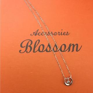 アクセサリーズブラッサム(Accessories Blossom)の【K10】ネックレス ダイヤ付き(ネックレス)