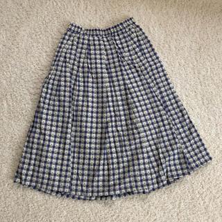 クリスプ(Crisp)のクリスプ スカート 花 刺繍(ひざ丈スカート)