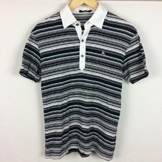 バーバリーブラックレーベル(BURBERRY BLACK LABEL)の美品 BURBERRY BLACK LABEL 半袖ポロシャツ ボーダー 2(ポロシャツ)
