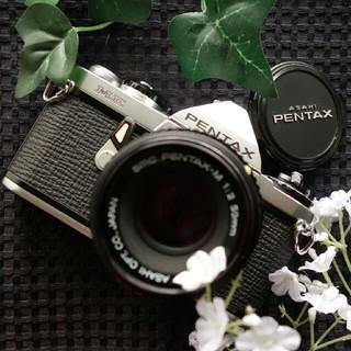 ペンタックス(PENTAX)のpentax金属製露出オートフィルム一眼☆明るい単焦点☆現像良好☆除菌抗菌ケア☆(フィルムカメラ)