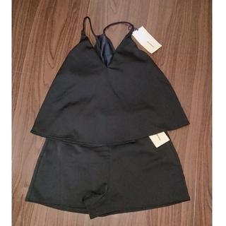 エンフォルド(ENFOLD)の今季完売 ナゴンスタンス 人気のブラック♡クロップドトップ&ショートパンツ 36(水着)