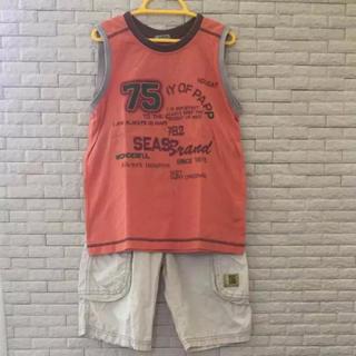 パプ(papp)のタンクトップ&半ズボンセット 130cm(Tシャツ/カットソー)