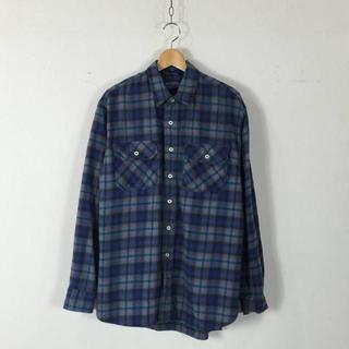 ペンドルトン(PENDLETON)のUSED ペンドルトン コットン チェック シャツ 青 L 160722(シャツ)
