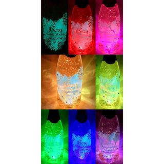 ✨七色に光る蓄光彫刻名前入りボトルプロフ必見‼︎✨ オーダーメイド(シャンパン/スパークリングワイン)