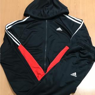 アディダス(adidas)のLサイズ adidas メンズ ジャージ上下セット ブラック×レッド(ジャージ)