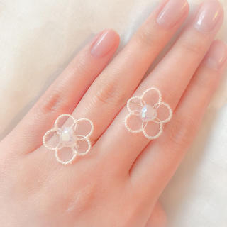 ❁ Vintage rétro Flower Lace Ring