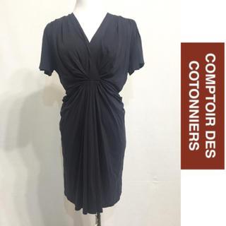 コントワーデコトニエ(Comptoir des cotonniers)のCONPTER DES COTONNIERS シンプルワンピース(ひざ丈ワンピース)