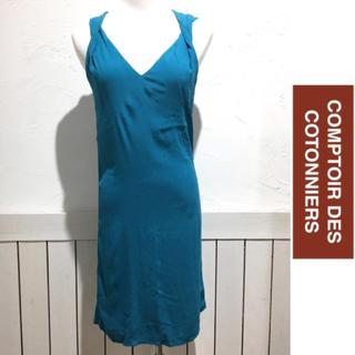 コントワーデコトニエ(Comptoir des cotonniers)のCONPTER DES COTONNIERS ノースリーブワンピース(ひざ丈ワンピース)