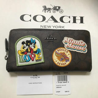 コーチ(COACH)の最新作 新品 コーチ COACH ×DISNEY ディズニーミニー長財布コラボ(財布)