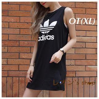 adidas - OT(XL) size  黒 ワンピース  アディダスオリジナルス