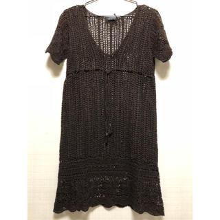 ルーニィ(LOUNIE)の新品未使用 綿レース編みワンピース(ひざ丈ワンピース)