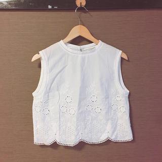 スライ(SLY)のSLY フラワーレース ブラウス 刺繍(シャツ/ブラウス(半袖/袖なし))