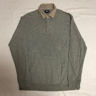 ステューシー(STUSSY)の90s STUSSY ポロシャツ スウェット 切替 サイドロゴ ステューシー(パーカー)