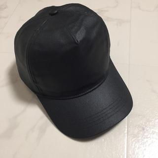 ザラ(ZARA)のZARA ザラ レザーキャップ cap(キャップ)