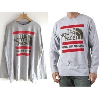 ザノースフェイス(THE NORTH FACE)のノースフェイス KING OF ROCKS デカロゴ ロングTシャツ XL(Tシャツ/カットソー(七分/長袖))