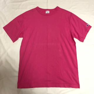 チャンピオン(Champion)の古着 champion 無地T オーバーサイズ ショッキングピンク チャンピオン(Tシャツ/カットソー(半袖/袖なし))